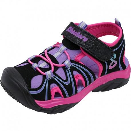 16 Du Bébé Sandale Fille A Noir Cape Chaussures Skechers Cod 8FUTxq
