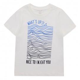 Tee-shirt Whats up écru Garçon Esprit