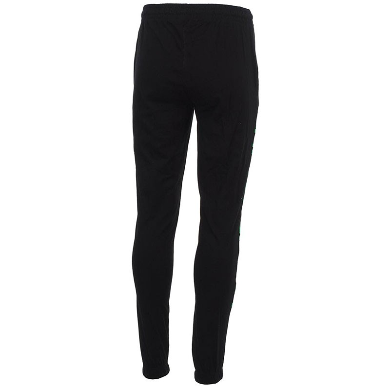 pantalon en coton cesto noir entrainement homme kappa pantalons. Black Bedroom Furniture Sets. Home Design Ideas