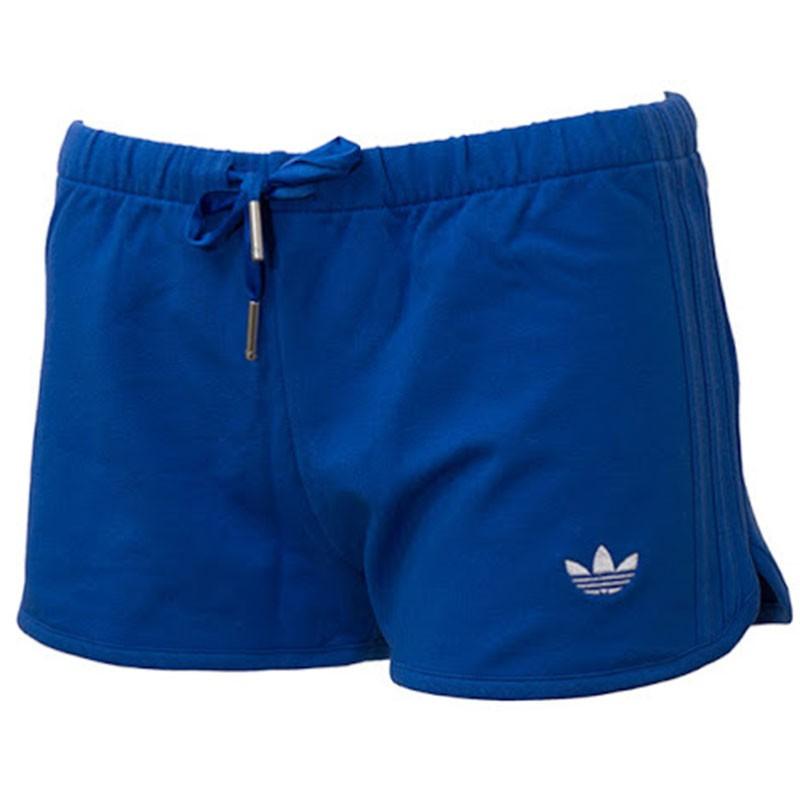 short femme slim short bleu adidas shorts. Black Bedroom Furniture Sets. Home Design Ideas