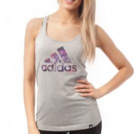 Débardeur Nightcity gris Entrainement Femme Adidas
