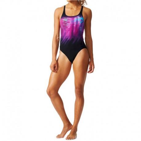 maillot de bain natation violet femme adidas maillots de. Black Bedroom Furniture Sets. Home Design Ideas