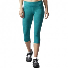 Collant Adistar 3/4 vert Running Femme Adidas