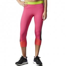 Collant Techfit Capri 3/4 rose Running Femme Adidas
