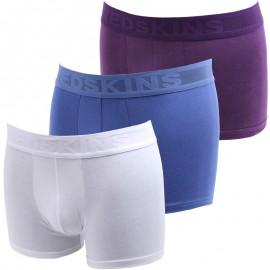 Lot de 3 Boxer Blanc Bleu Violet BX06 Homme Redskins