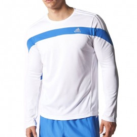 Tee Shirt Response Running blanc Homme Adidas