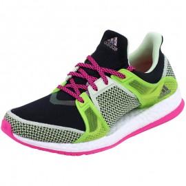 Chaussures Vert Pure Boost X Running Femme Adidas