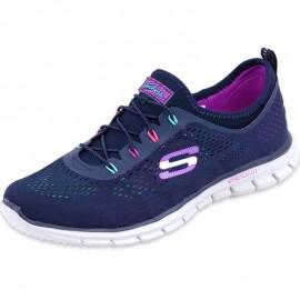 Chaussures Bleu Glider Harmony Running Femme Skechers