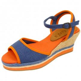 Sandales Bleu Oelia Femme Kickers