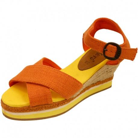 A buon mercatoSandales Orange Ornella Femme Kickers sulla vendita