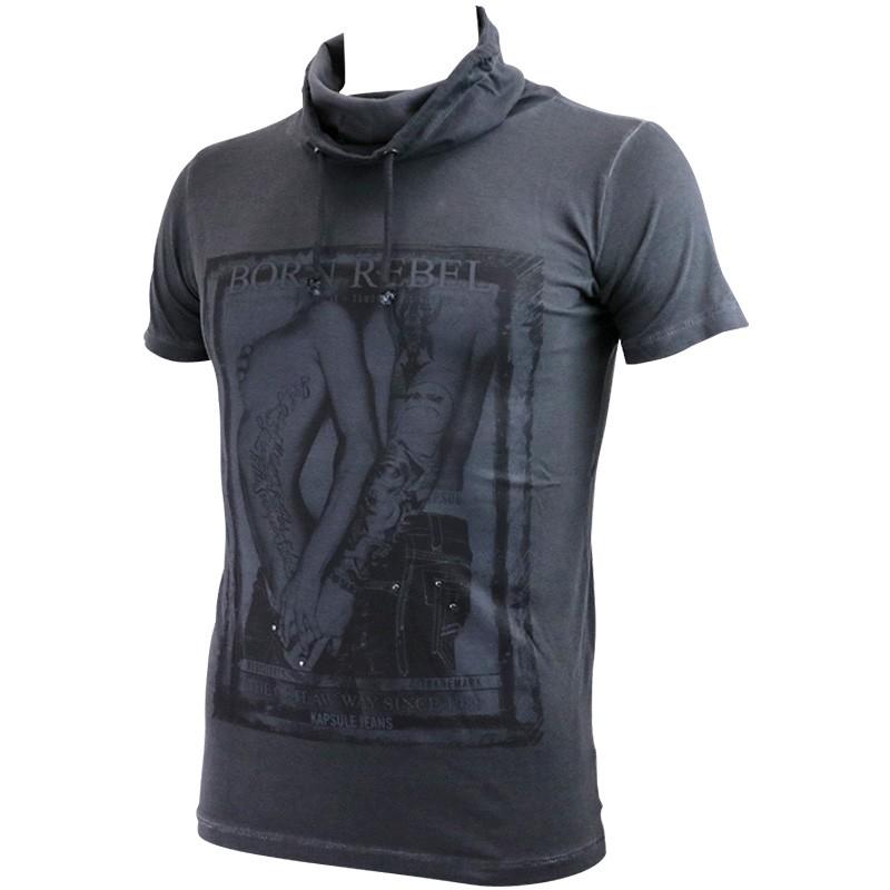 Tee Shirt Gris Malwin Homme Kapsule