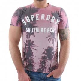 Tee Shirt Rose Santa Monica Homme Superdry