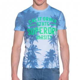 Tee Shirt Bleu Santa Monica Homme Superdry