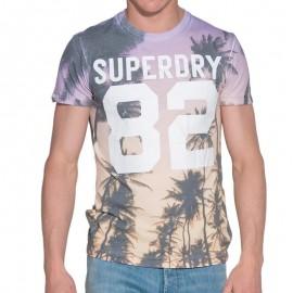 Tee Shirt Violet Santa Monica Homme Superdry