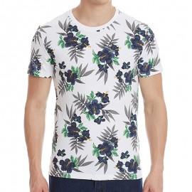 Tee Shirt Blanc Dry Hawaiian AOP Homme Superdry