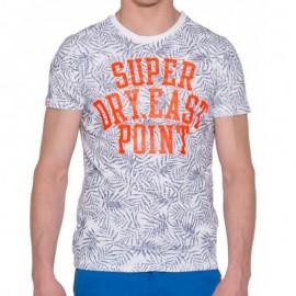 Tee Shirt Blanc Tiki Club AOP Homme Superdry