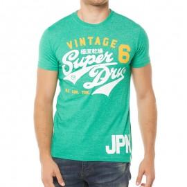 Tee Shirt Vert Stacker Duo Rework Classic Homme Superdry