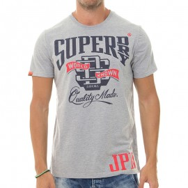 Tee Shirt Gris World Known Entry Homme Superdry