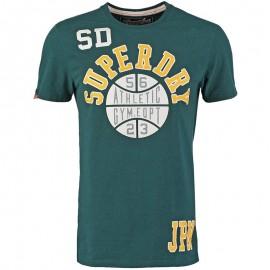 Tee Shirt Vert Slam Dunk Homme Superdry
