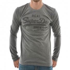 Tee Shirt Manche Longue Gris 14Q Homme Superdry