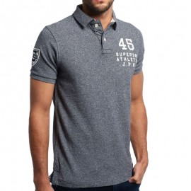 Polo Gris Captain Homme Superdry