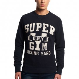 Sweat Bleu Boxing Yard Crew Homme Superdry