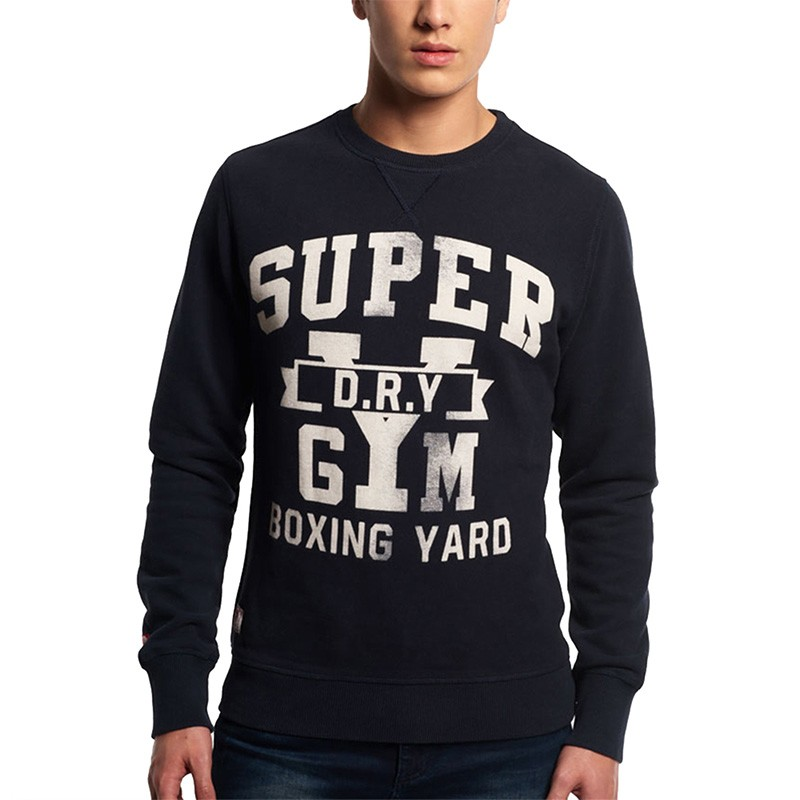Sweat Bleu Boxing Yard Crew Homme Superdry Sweats