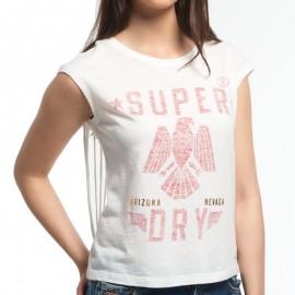 Tee Shirt Blanc Savanna Fringe Femme Superdry