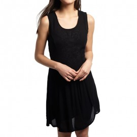Robe Noir Robe Sheer Lacy Sweep Dress Femme Superdry