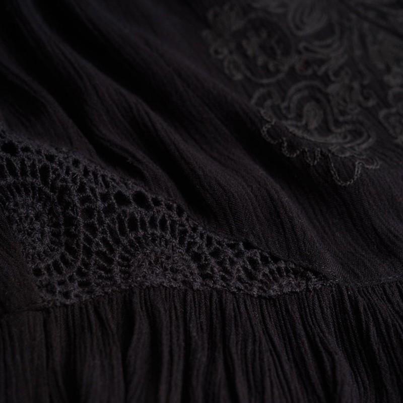 Robe-Noir-Robe-Sheer-Lacy-Sweep-Dress-Femme-Superdry