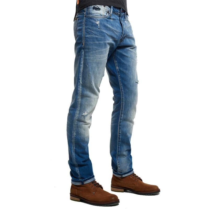 pantalon jean bleu biker homme superdry pantalons. Black Bedroom Furniture Sets. Home Design Ideas