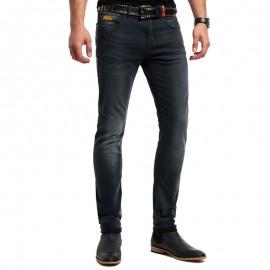 Pantalon Jean Noir Biker Homme Superdry