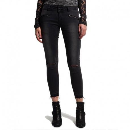 pantalon jean noir leila super skinny crop femme superdry. Black Bedroom Furniture Sets. Home Design Ideas
