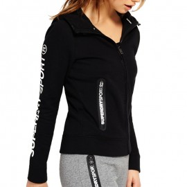 Veste à Capuche Noir Gym Tech Ziphood Sport Femme Superdry