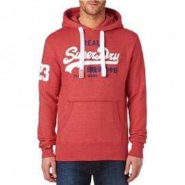 Sweat à Capuche Rouge Vintage Logo Duo Homme Superdry