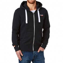 Veste à Capuche Bleu Orange Label Ziphood Homme Superdry