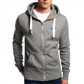Veste à Capuche Gris Orange Label Ziphood Homme Superdry