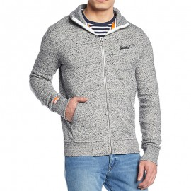Veste Gris Orange Label Track Zip Top Homme Superdry