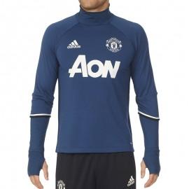Sweat Bleu Manchester United 2016-2017 Football Homme Adidas