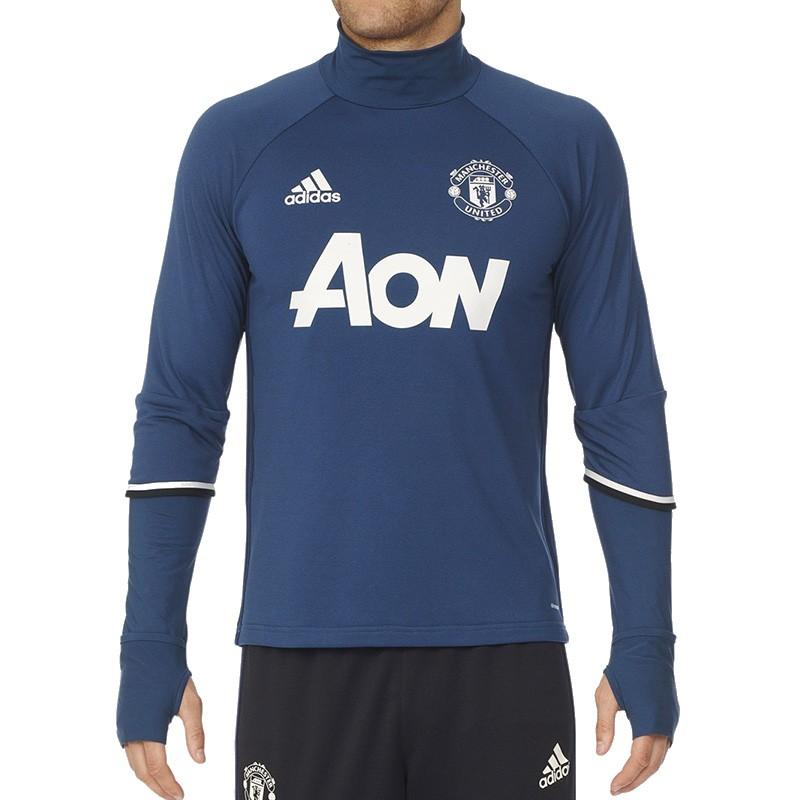 c05b58cc24b5 Sweat Bleu Manchester United 2016-2017 Football Homme Adidas - Sweats