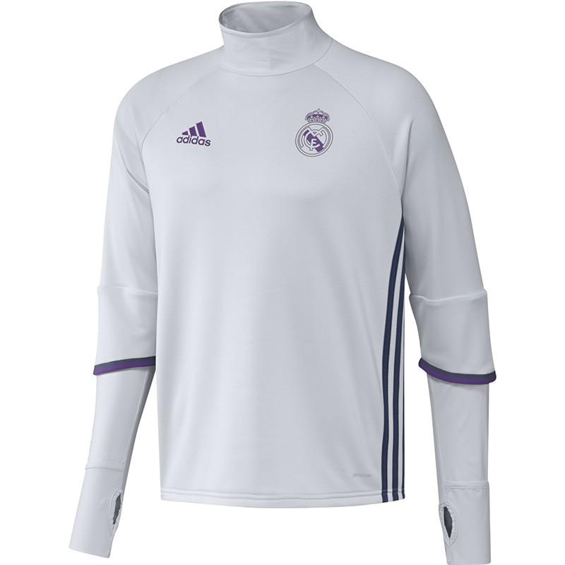 best service 9d9f4 2d50b Sweat Blanc Real Madrid 2016-2017 Football Homme Adidas