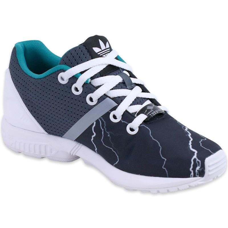 Chaussures Noir ZX Flux Split Garçon Adidas
