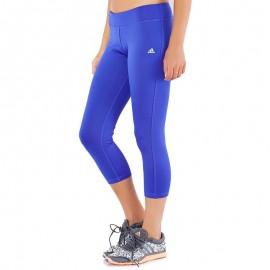 Collant 3/4 Bleu Climalite Esentials Femme Adidas