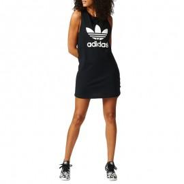 Robe Débardeur Noir Trefoil Tank Dress Femme Adidas
