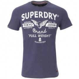 Tee Shirt Bleu Full Weight Entry Homme Superdry