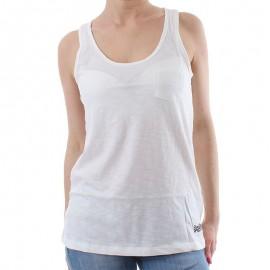 Débardeur Blanc Vintage Dye Vest Femme Superdry
