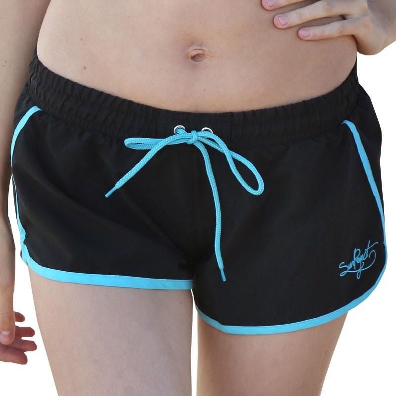 short de bain turquoise femme sun project maillots de bain. Black Bedroom Furniture Sets. Home Design Ideas
