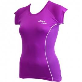 Tee Shirt Violet Padel Top Running Femme Asics