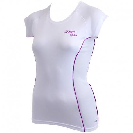 Tee Shirt Blanc Padel Top Running Femme Asics