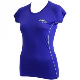 Tee Shirt Bleu Padel Top Running Femme Asics